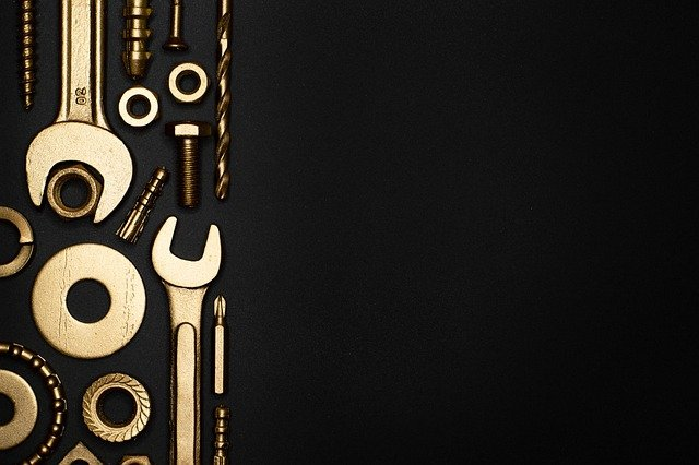 Screw, Pin, Engineering, Gold, Tool, Industrial