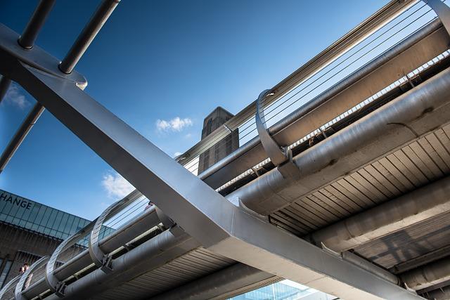England, London, Millennium Bridge, Architecture