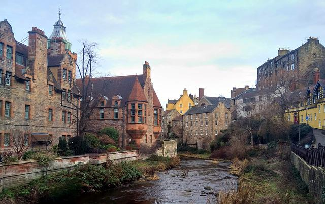 Edinburgh, Scotland, England, Tourism, City, Brook