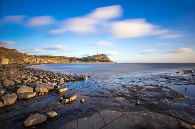 Kimmeridge Bay, Coast, Sea, England