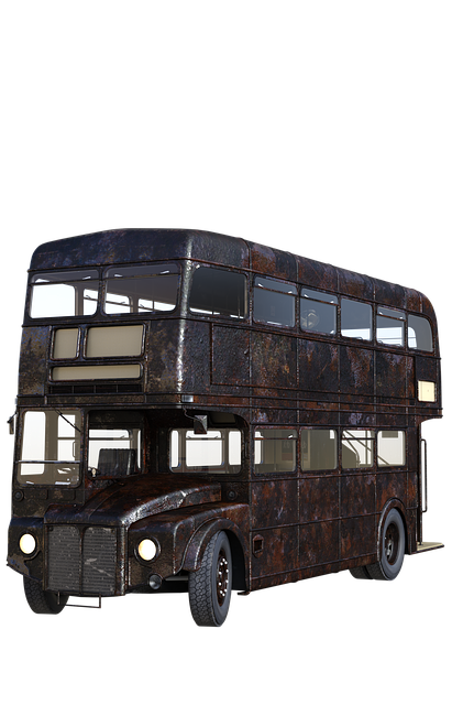 Bus, London, England, Double Decker, Old, Rusty