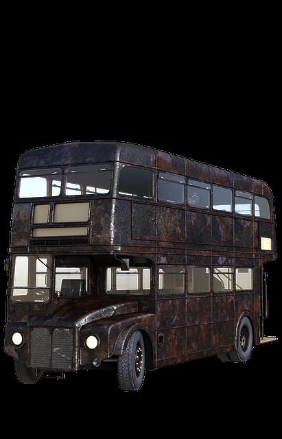 Bus, London, England, Double Decker, Old, Rusty