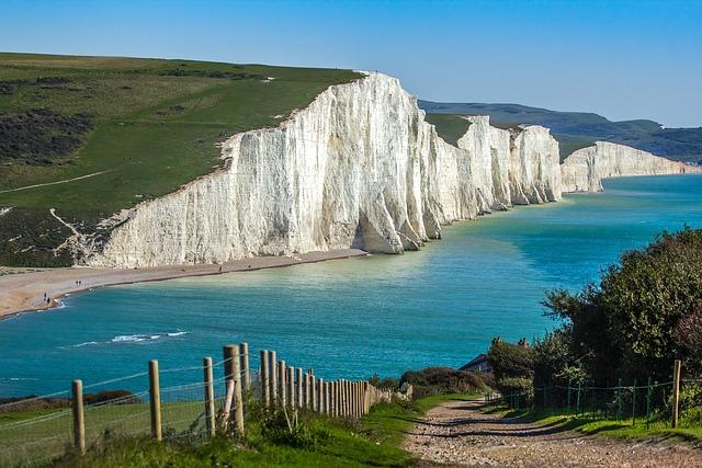 Seven Sisters, England, Outlook, Ocean