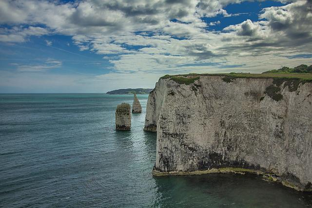 Old Harry Rocks, Reefs, Ocean, England