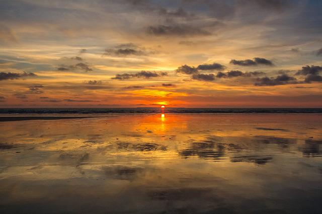 Sunset, Beach, Low Tide, England