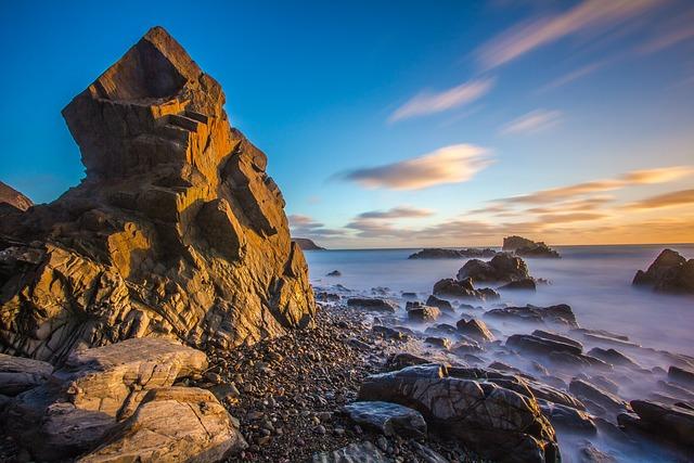 Reefs, Ocean, Tide, Wales, England