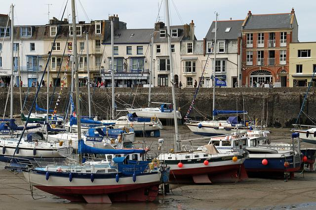 Devon, England, British, Uk, Seaside, Town, Sailing