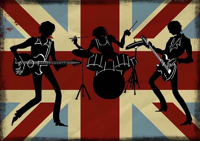 British, Band, Silhouette, Flag, England, Uk, Drums