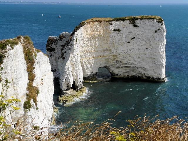 Rocks, Sea, Water, Landscape, Costa, England, Summer