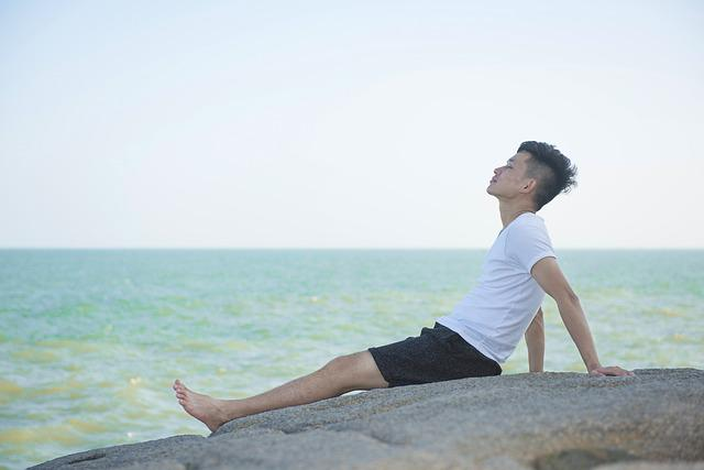 Character, Beach, Sea Breeze, Enjoy, Young People, Joy