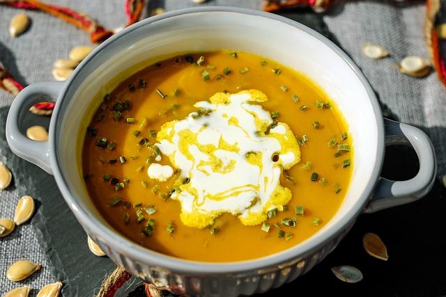 Pumpkin Soup, Soup, Orange, Meal, Delicate, Enjoy