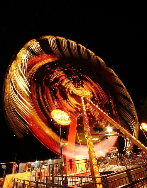 Amusement Park, Entertainment, Long Exposure, Great