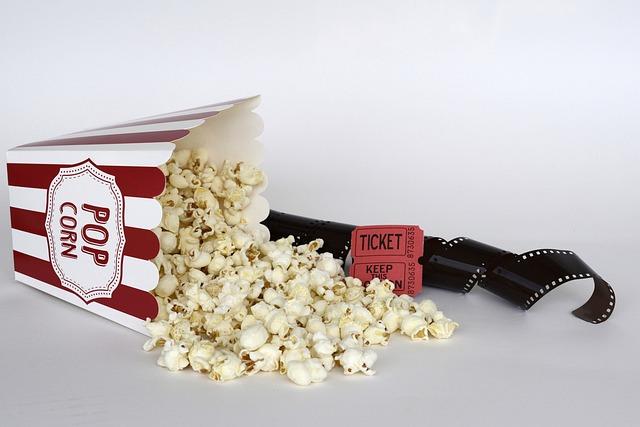Popcorn, Cinema, Ticket, Film, Entertainment, Food