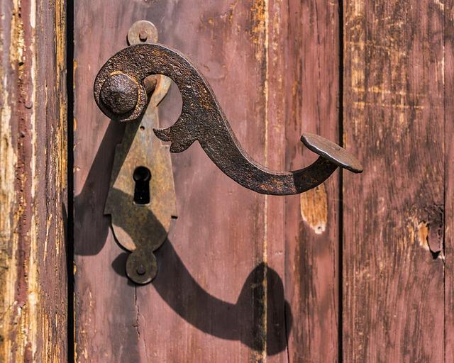 Handle, Rusty, Old, Lock, Rust, Iron, Entrance, Door