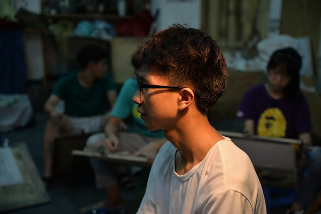 Studio, Entrance Examination, Art, Boy, Student