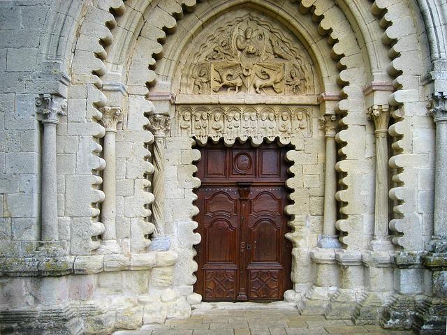 Ganagobie Abbey, Portal, Entrance, Benedictine
