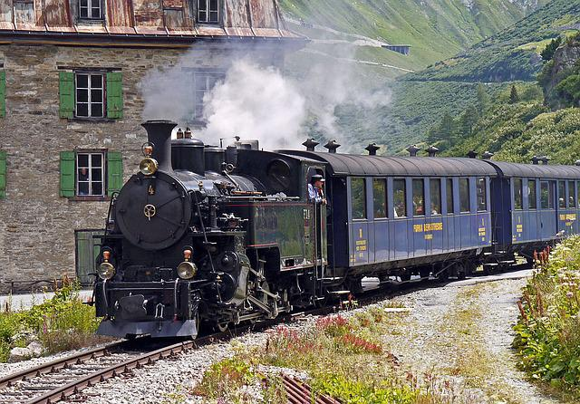 Steam Railway Furka-bergstrecke, Entrance Gletsch
