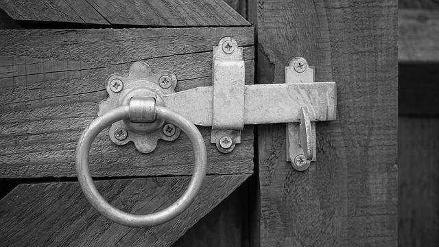 Gate, Handel, Doorway, Steel, Home, House, Entry, Door
