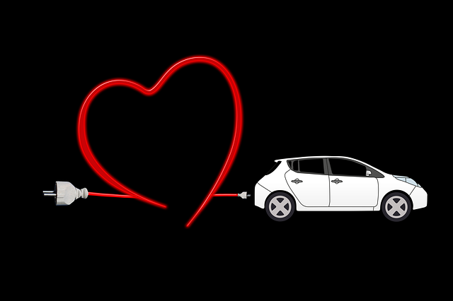 Electric Car, Heart, Environment, Protection, Current