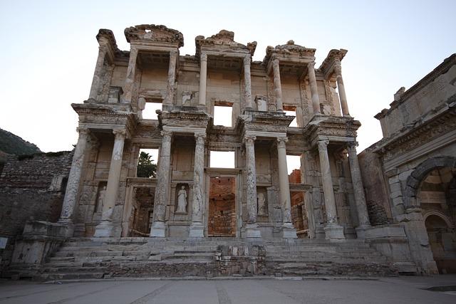Turkey, Ephesus, Ephesos, Library