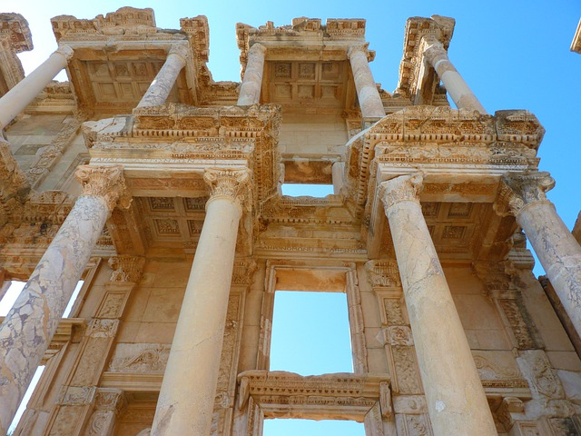 Celsus Library, Ruins, Ephesus, Ruined City, Columnar