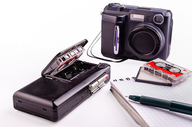 Dictaphone, Pen, Pad, Note, Business, Equipment