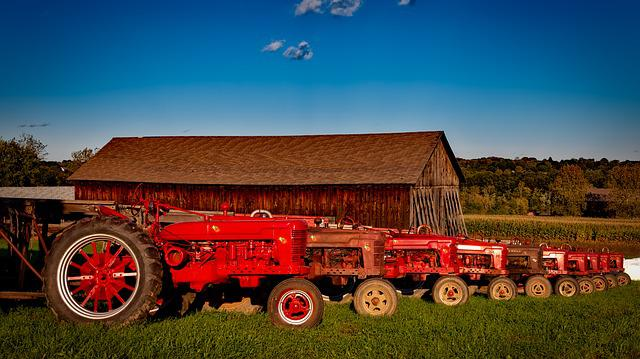 Farmall, Tractors, Vintage, Antique, Equipment, Rural