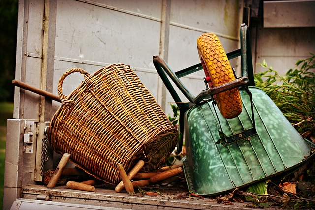 Basket, Wheelbarrow, Equipment, Gardening, Lorry, Work