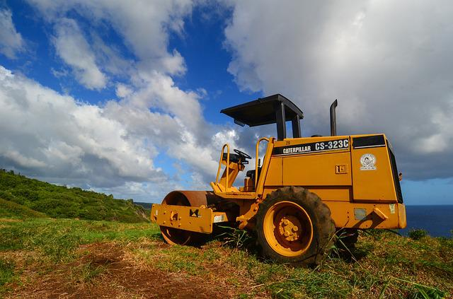 Caterpillar, Tractor, Machinery, Equipment, Industry