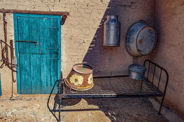 Door, Storehouse, Wooden, Wall, Equipment, Tools