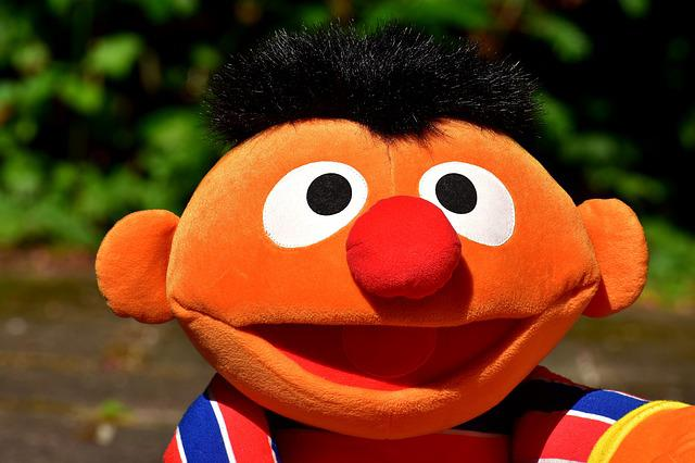 Ernie, Plush, Funny, Cute, Fun, Toys, Stuffed Animal