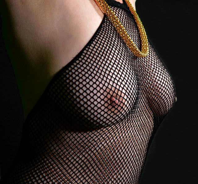 Jewellery, Breasts, Act, Act Of Part Of, Erotic, Sexy
