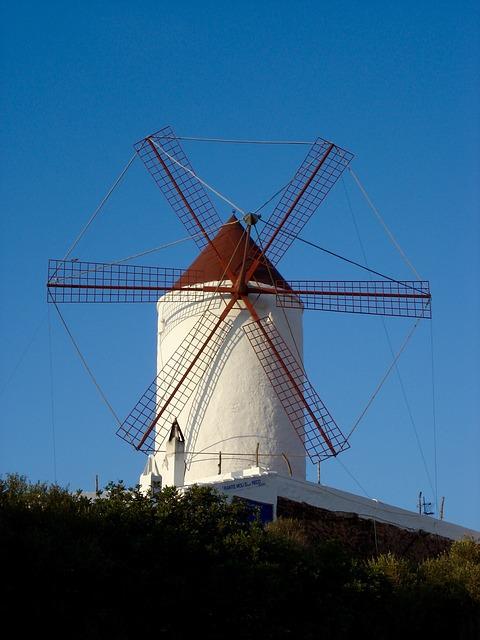 Mill, Es Mercadal, Minorca, Balearic Islands, Island