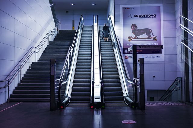 Escalators, Person, Solo, Stairs, Woman
