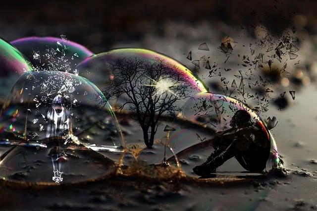 Love, Rage, Mourning, Hatred, Escape, Soap Bubble, Tree