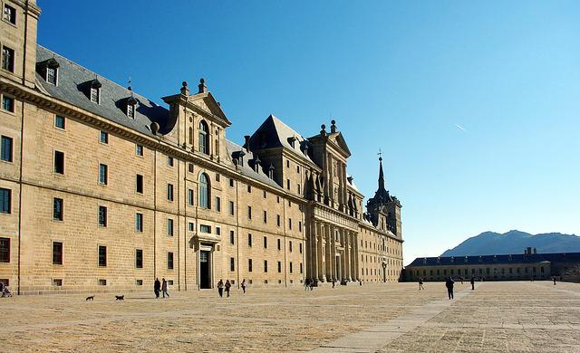 Spain, Escorial, Palace, Castle, Esplanade, El Escorial