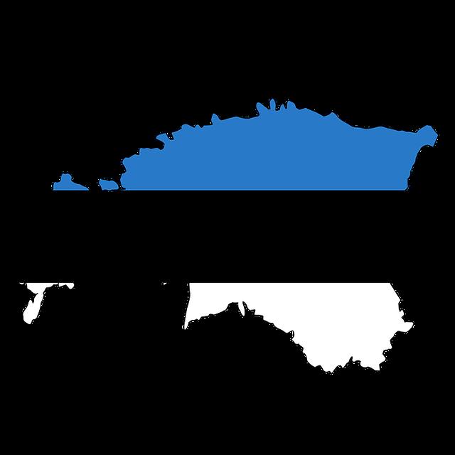 Estonia, Map, Flag, Land, Country, Borders