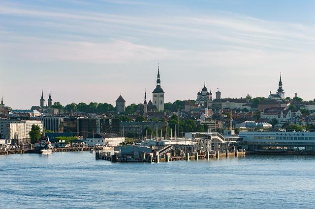 Tallin, Estonia, Skyline, City, View, Porto, Overview