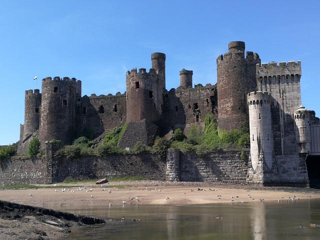 Castle, Wales, Conway, Welsh, Uk, Tower, Estuary, Coast