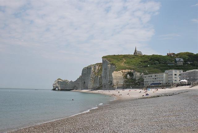 Cliff, Coast, Sea, Ocean, France, Etretat