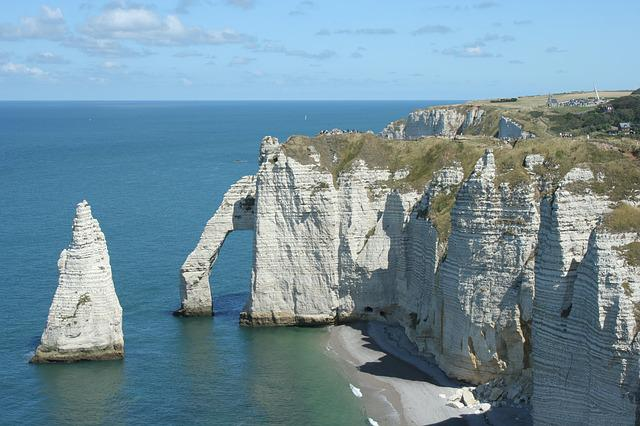 Etretat, France, Normandy, Rocks, Nord Sea