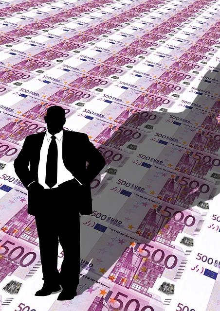 Businessman, Man, Euro, Bill, Currency, Employer