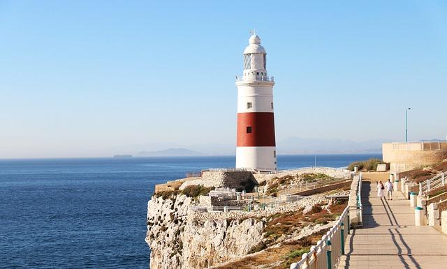 Gibraltar, Lighthouse, Europa Point Lighthouse, Travel