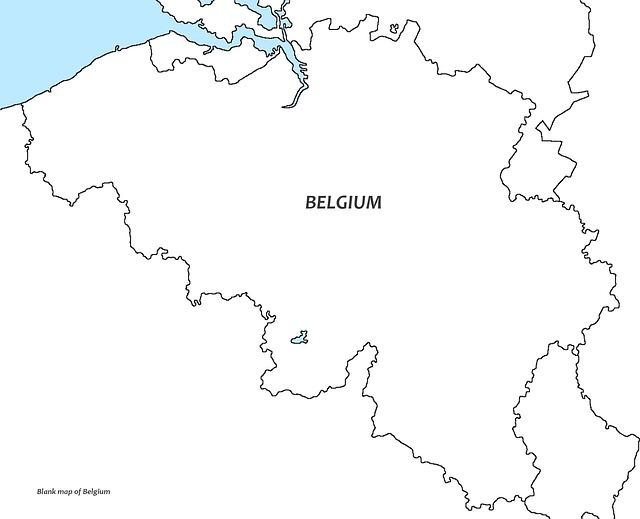 belgium white map belgium blank map europe brussels