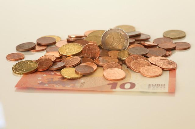Money, Euros, Dollar Bill, Coins, Europe, Currency