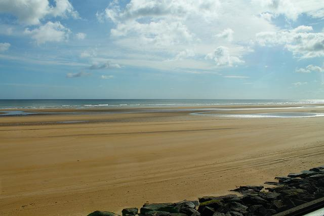 Juno Beach, French Beach, Europe, Sandy Beach, Sea