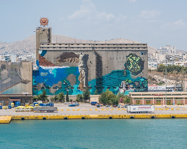 Athens, Greece, Coastline, Graffiti, Greek, Europe