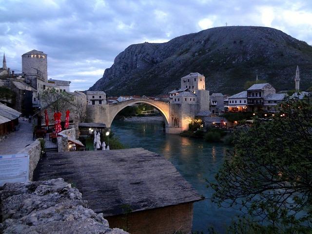 Bosnia, Mostar, Herzegovina, Europe, Travel, Landmark