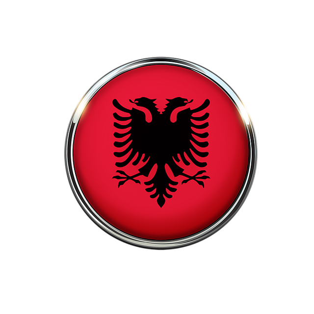 Albania, Flag, Circle, Free Image, European, Symbol