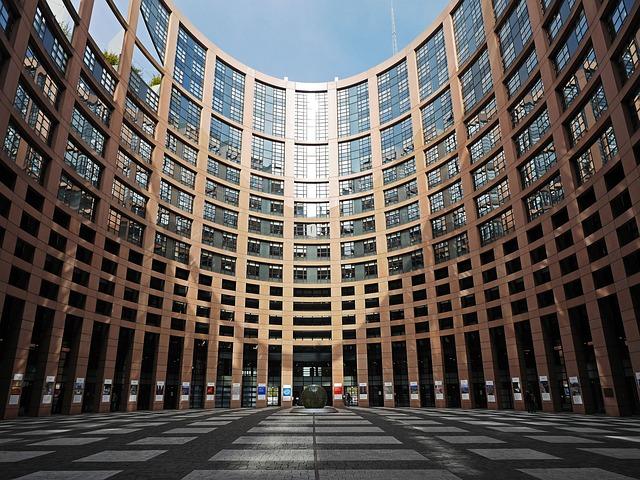 European Parliament, Strasbourg, Courtyard, Parliament